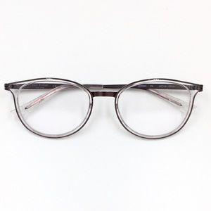 Isaac Mizrahi IM30001 clear rim pale pink glasses